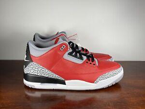 Nike Men's Air Jordan III 3 Retro SE Fire Red Cement Black CK5692-600 Size 16