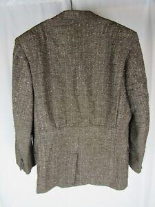 Vtg Fleck Belt Back Sport Jacket Blazer 1930s Style Hollywood VLV 30s 50s 1950s