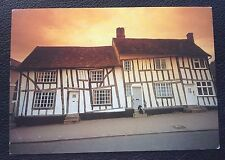 POSTCARD: SUFFOLK: TIMBER FRAMED HOUSES IN LAVENHAM: POST DATE ON CARD IS 1997