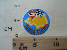 STICKER,DECAL GULF TARGA FLORIO RACETRACK GRAND PRIX FORMULA ONE