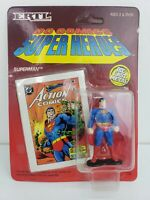 1990 Rare Vintage SUPERMAN Die Cast Action Figure - ERTL Super Heroes DC comics