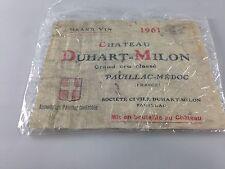 Vintage Chateau Duhart=Milon Pauillic Medoc Wine Label ~ 1961 ~ Ships FREE!