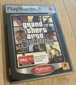 GRAND THEFT AUTO SAN ANDREAS (brand New Factory Sealed) - Sony Playstation 2 PS2