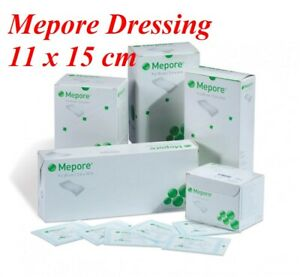 Mepore Self Adhesive First Aid Dressings For Skin Cuts Burns Wounds - 11 x 15cm