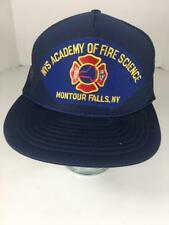 Baseball Trucker Vtg Cap Snapback 5 Panel NY Academy Fire Science Montour Fall