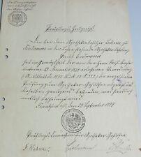 Prüfungs-Zeugnis zum APOTHEKER-Gehilfen, FRANKFURT (Oder) 1899