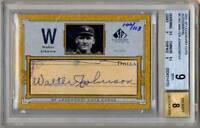 2001 SP Legendary Cuts Autograph WALTER JOHNSON Auto /113 BGS 9 MINT HOF GOAT !!
