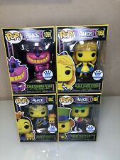 Alice In Wonderland Black Light Funko Pop! Set Of 4 In Hand Fast Shipping