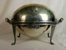 Antique Walker & Hall Silver Plated Server Bowl Roll Top dome Sheffield England