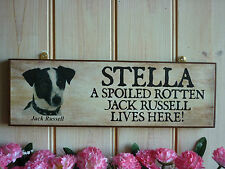 PERSONALISED NAME SIGN HOUSE SIGN GARDEN SIGN INDOOR OUTDOOR JACK RUSSELL SIGN