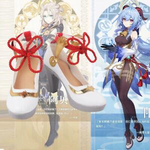 Genshin Impact Ganyu Shoe High Heels Cosplay Equipment Props Game White Present