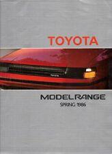 Toyota Spring 1986 UK Market Brochure Starlet Corolla MR2 Carina Celica Camry