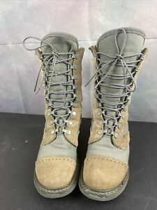 Corcoran 87257  Green Leather Army Military Boots  6M