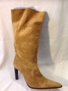 Oasis Brown Mid Calf Suede Boots Size 41
