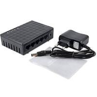 5Ports 100Mbps RJ45 Fast LAN Ethernet Network Switch HUB Desktop Mini Adap x U_X