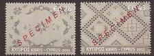 CYPRUS 2011 EMBROIDERY ISSUE STAMPS opt. SPECIMEN MNH (LEFKARA LACES, WEAVING)