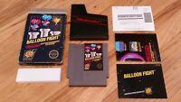 Balloon Fight Nintendo NES 5 Screw BLACK BOX Complete CIB Game Box & Manual Lot!