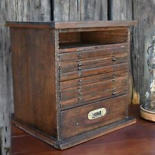 Antique 19th Century Coin Collectors Specimen Cabinet Bank of Drawers