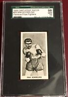 1938 F.C. CARTLEDGE #29 MAX SCHMELING GEM MINT 10 FAMOUS PRIZE FIGHTERS card SGC