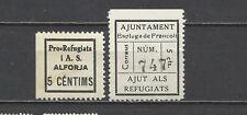 1485-LOTE SELLOS LOCALES ESPAÑA GUERRA CIVIL 1936-1937  ZONA REPUBLICANA ALFORJA