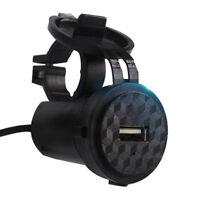 Waterproof USB Charger Socket Adapter Power for 12V Car Motorcycle Handlebar  YJ