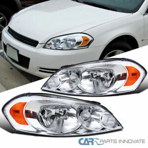 For Chevy 06-13 Impala 06-07 Monte Carlo Clear Headlights Headlamps Signal Lamps