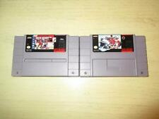 Lot Of 2 Super Nintendo Video Games Stanley Cup With Manual & Nhlpa Hockey*