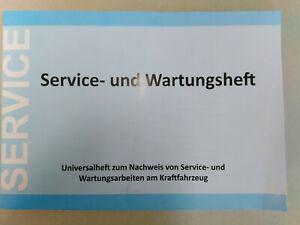 1 x Universal Scheckheft, Service-Nachweis, Wartungsheft, Serviceheft