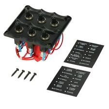 Waterproof 6 Gang Eletric Toggle Switch Panel Fuse For Car Boat Marine DIY B7Y7