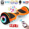 "6.5"" Hoverboard Bluetooth LED Self Balancing Electric Scooter Orange No Bag UL"