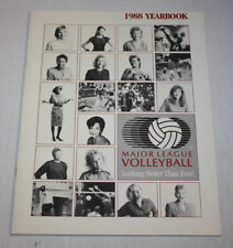 1988 Major League Volleyball Yearbook Program