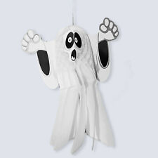 Large Halloween Paper 3D Hanging Decorations Scary Black and White Ghost