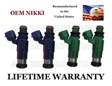 oem genuine nikki set of 4 fuel injectors for 01 02 03 04 05 mazda protege