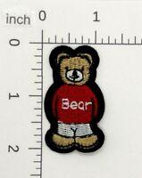 Teddy Bear Head Portrait Embroidery Patch Gray Grey 3M Reflective
