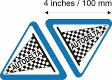 "2x Autodelta 4"" Alfa Romeo Stickers GTV 33 spyder sprint 156 147 159 brera mito"