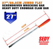 "27"" 68.5cm Slotted Screwdriver Heavy Duty Jumbo Long Flat Screw Driver Pay Bar"