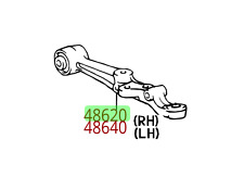 Lexus LS400 (1995-2000) OEM FRONT RIGHT LOWER CONTROL ARM 48068-50020