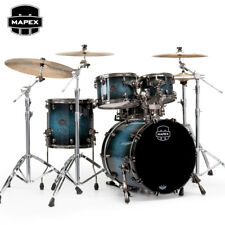 Mapex SATURN V MH Exotic Fusion 4-Piece Drum Set Shell Pack Deep Water Maple