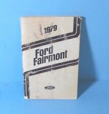 79 1979 Ford Fairmont owners manual