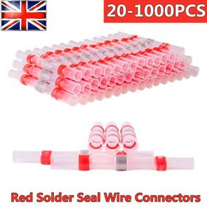 20-1000pcs Solder Seal Sleeve Heat Shrink Wire Connectors Butt Terminals