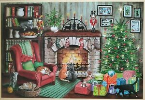 Adventskalender Baumfrevel, Katzen am Kamin, Umgebindehäuser, Uhde Kinderzimmer