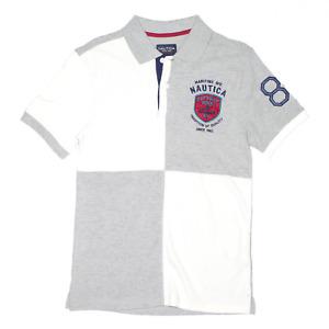 NAUTICA Grey Regular Short Sleeve Polo Shirt Boys L