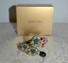 "NIB Heidi Daus ""Blossom Du Jour"" Crystal Cherry Blossom Cuff Bracelet S/M"