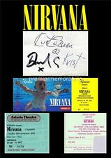 NIRVANA KURT COBAIN DAVE GROHL KRIST NOVOSELIC SIGNED (PRINTED) EXCLUSIVE PRINT