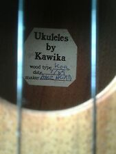 SALE Early Handmade David Hurd Kawika Koa Vintage Soprano Ukulele 1989 'Mickey'