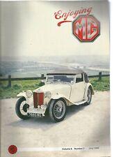 ENJOYING MG - CAR MAGAZINE - 5 ISSUES 1988