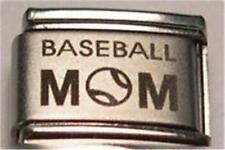 BASEBALL MOM AUTHENTIC LASER ITALIAN CHARM 9MM CLASSIC SIZE FOR BRACELETS RARE