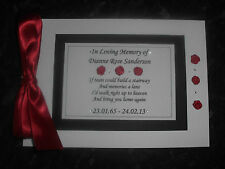 PERSONALISED GUEST BOOK - FUNERAL - BOOK OF CONDOLENCE - MEMORY BOOK
