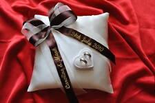 Personnalisé anneau bague de mariage coussin oreiller avec anneaux support boite