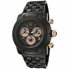 Glam Rock GK1116 Womens Miami Chronograph Black Ion Plated Stainless Steel Watch